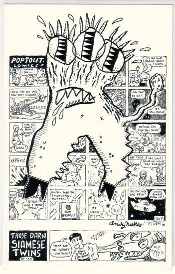 original art DAVID TOSH Andy Nukes JAM comix 1988 signed
