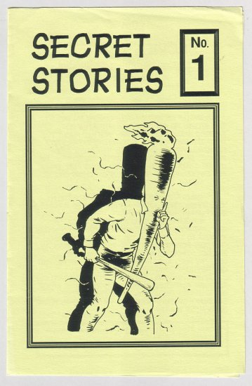 SECRET STORIES #1 mini-comic BOB BURDEN 1991 Flaming Carrot