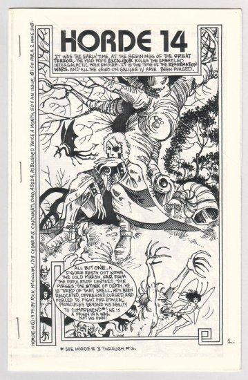 HORDE #14 mini-comic RICK MCCOLLUM 1979 fanzine