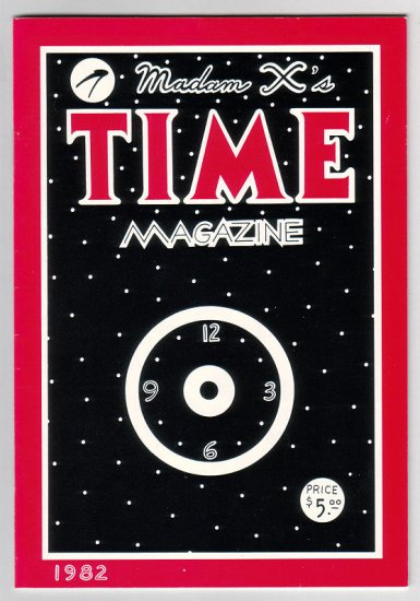 MADAM X'S TIME MAGAZINE minicomic spoof 1982