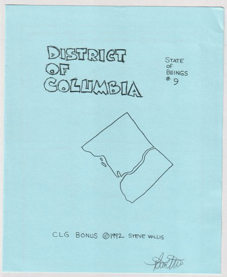 STATE OF BEINGS #9 mini-comic STEVE WILLIS signed District of Columbia