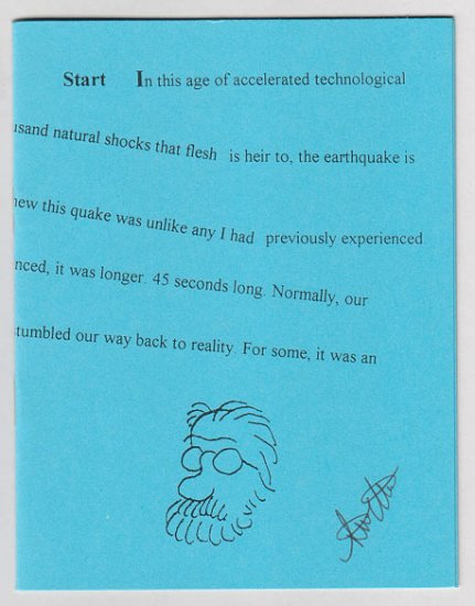 6.8 AFTERSHOCKS minicomic zine STEVE WILLIS signed