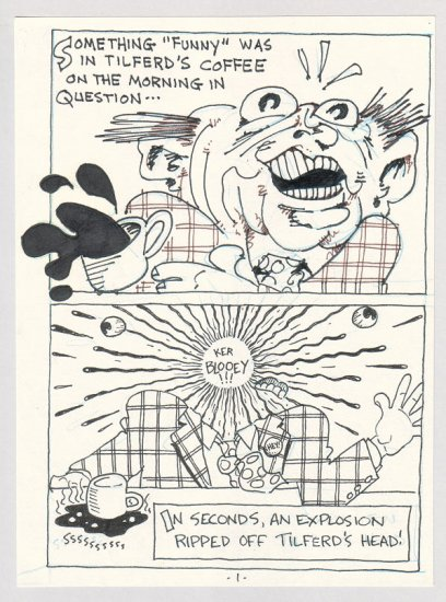 original art DONE TO A TURN complete 8-page jam comix by STEVE WILLIS and DAVID TOSH 1987