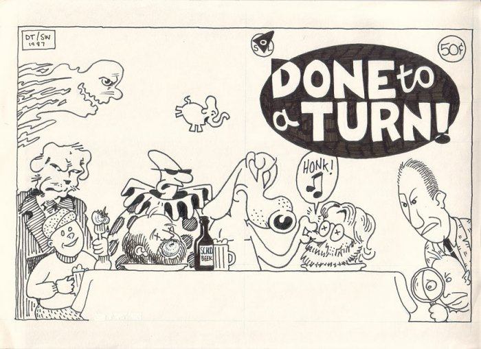 DONE TO A TURN original cover art STEVE WILLIS D. Tosh jam comix 1987