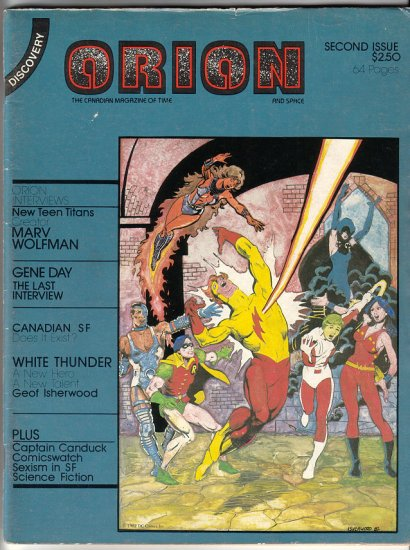 ORION #2 comics fanzine GENE DAY Ian Carr GEOFF ISHERWOOD 1982