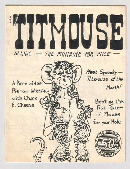 TITMOUSE mini-comic R. PLATT 1983 Playboy parody