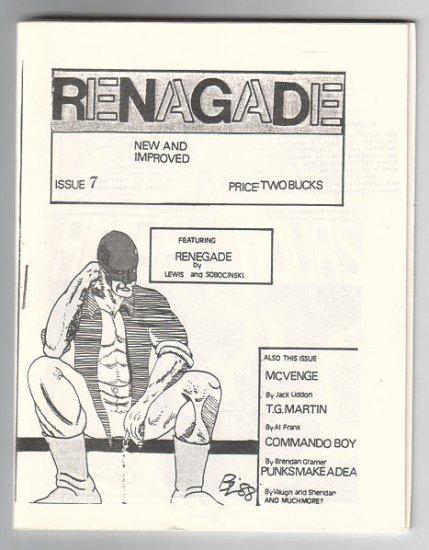 RENAGADE #7 minicomic MATT FEAZELL Larry Blake 1988