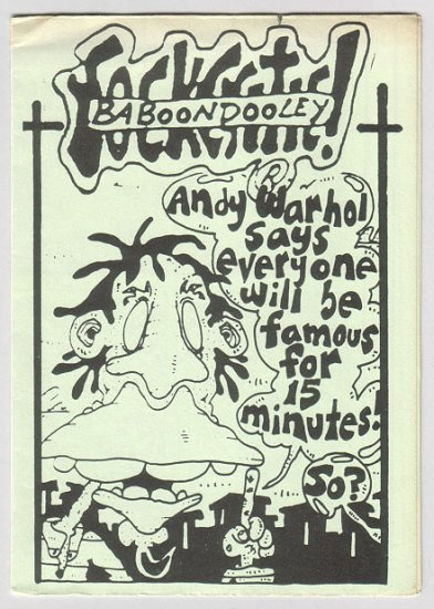 BABOON DOOLEY ROCK CRITIC Scottish mini-comic JOHN CRAWFORD 1980s