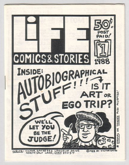LIFE COMICS #1-4 plus bonus mini-comic VICTOR GATES Jim Conatser LARRY BLAKE 1988
