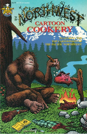 NORTHWEST CARTOON COOKERY comix JIM WOODRING J.R. Williams JOE SACCO 1995