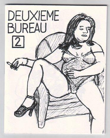 DEUXIEME BUREAU #2 French mini-comic 2001 pin-up
