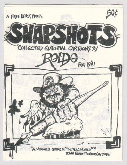 SNAPSHOTS Canadian mini-comic ROLDO Free Kluck 1981