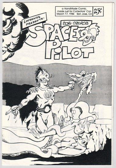 BONG OZCROB, SPACE PILOT mini-comic ED SAVAGE 1984 signed