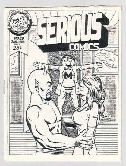 SERIOUS COMICS #19 mini-comic TIM CORRIGAN 1986