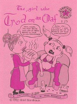 GIRL WHO TROD ON AN OAF mini-comic ARIEL BORDEAUX 1997