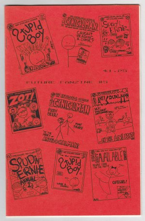 FUTURE FANZINE #5 mini-comic MATT FEAZELL interview Cynicalman 1987