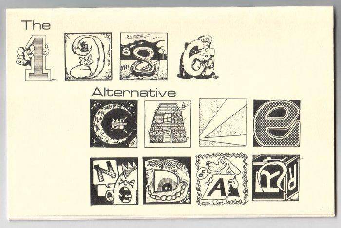 1986 ALTERNATIVE CALENDAR Jeff Gaither STEVE WILLLIS John Howard BRAD FOSTER