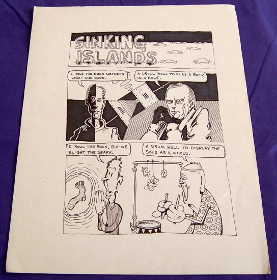original art STEVE WILLIS two-page story 1992 psychedelic