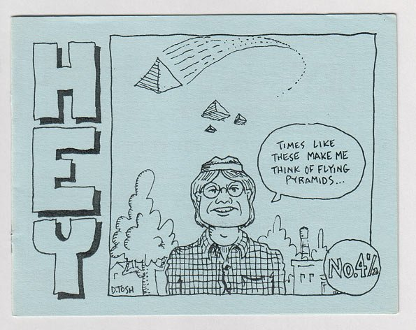 HEY #4-1/2 mini-comic D. TOSH 1988 comix