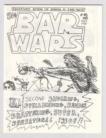 BAR WARS #2 mini-comic JACK D. ZASTRE 1981 Canadian underground comix