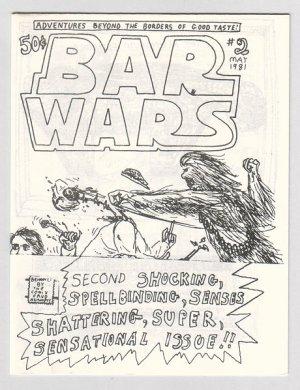 BAR WARS #2 mini-comic JACK D. ZASTRE 1981 Canadian underground comix
