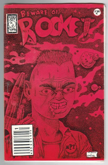 BEWARE OF ROCKET #1 mini-comic RAY BASHAM Jeff Hollins 1989