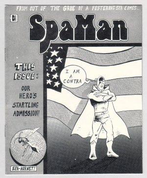 SPAMAN #2 mini-comic AL GREENIER 1986 underground comix