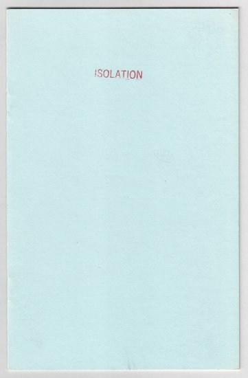 ISOLATION #2 mini-comic NICK AUMILLER 1986