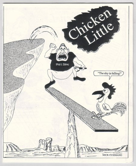 CHICKEN LITTLE mini-comic MICK CUSIMANO 1990
