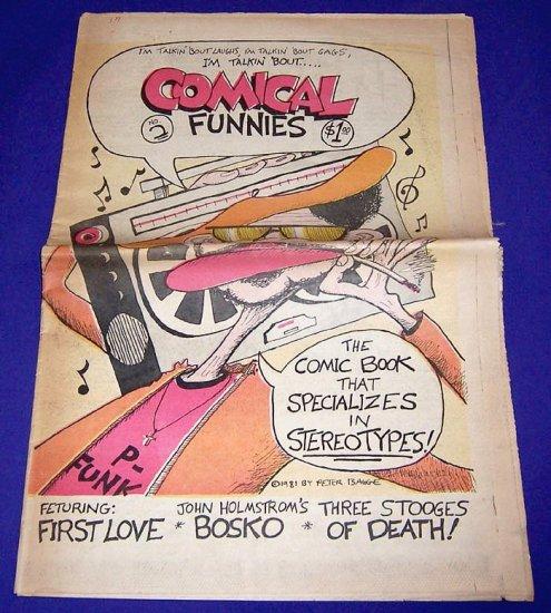 COMICAL FUNNIES #2 Peter Bagge KAZ John Holmstrom 1980 underground comix