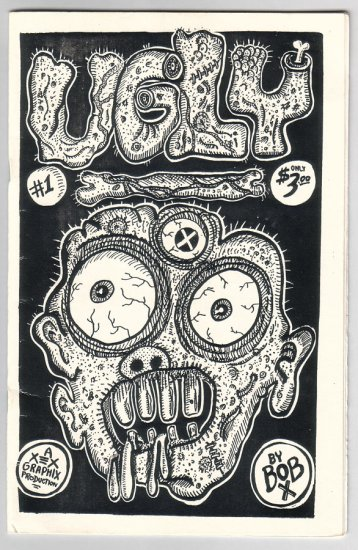 UGLY #1 mini-comix BOB X signed numbered 1980s underground comix