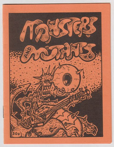 MONSTERS AND MUTANTS #6 mini-comic JEFF GAITHER Bob X 1986 underground comix art brut