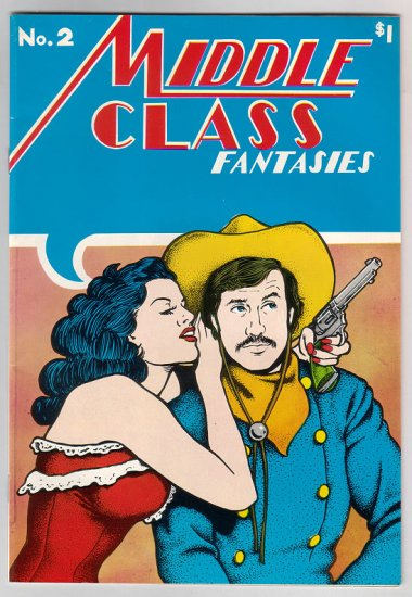 MIDDLE CLASS FANTASIES #2 underground comix JERRY LANE 1976