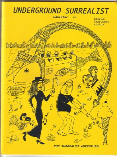 UNDERGROUND SURREALIST #10 comix JIM SIERGEY Mick Cusimano SIGNED 1996