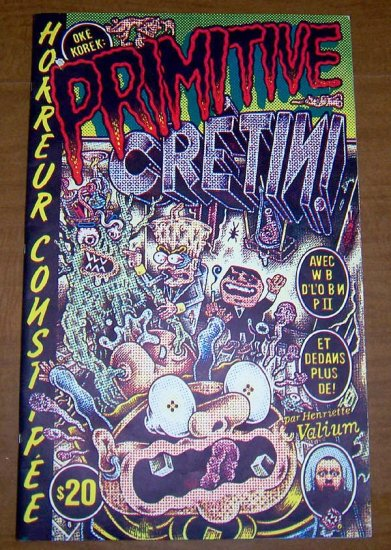 PRIMITIVE CRETIN giant silkscreened book HENRIETTE VALIUM early '90s