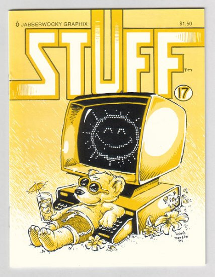 STUFF #17 mini-comic MARK MARTIN David Miller WAYNO 1989