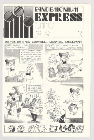 PANDEMONIUM EXPRESS FUNNIES #9 underground comix mini-comic 1975