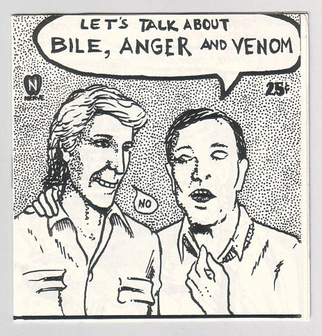 BILE, ANGER AND VENOM mini-comic STARLEN BAXTER 1985