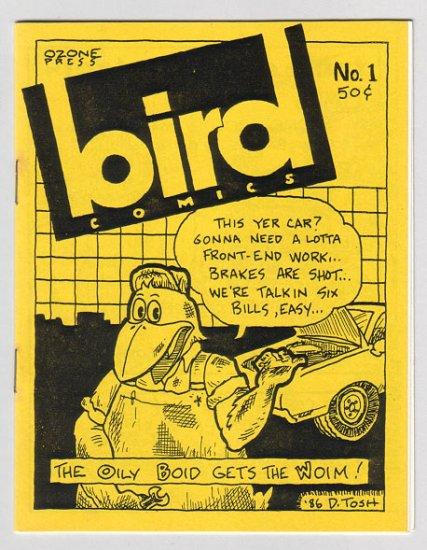 BIRD COMICS #1 mini-comic DARYL HUTCHINSON Brad Foster 1986 Tosh file copy