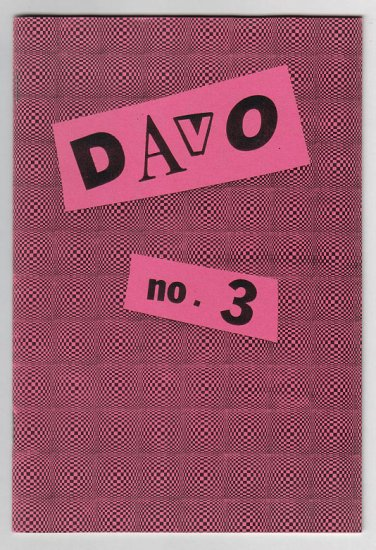 DAVO #3 mini-comic D. TOSH sketchbook proof copy 1986