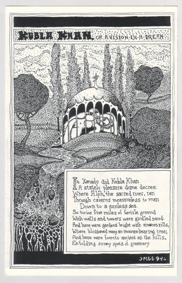 KUBLA KHAN mini-comic MARK DAVID DIETZ Samuel Taylor Coleridge 1994