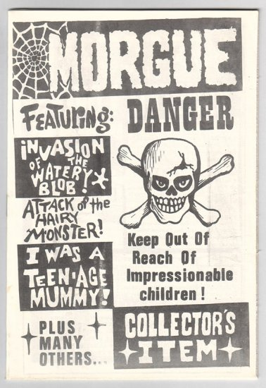 TALES FROM THE MORGUE #1 fanzine KEN LEACH 1964 + bonus