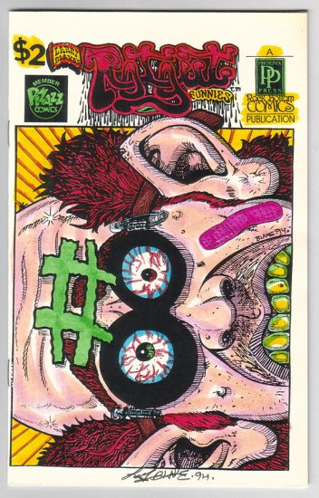 ROTGUT FUNNIES #8 mini-comic LARRY BLAKE 1994 signed
