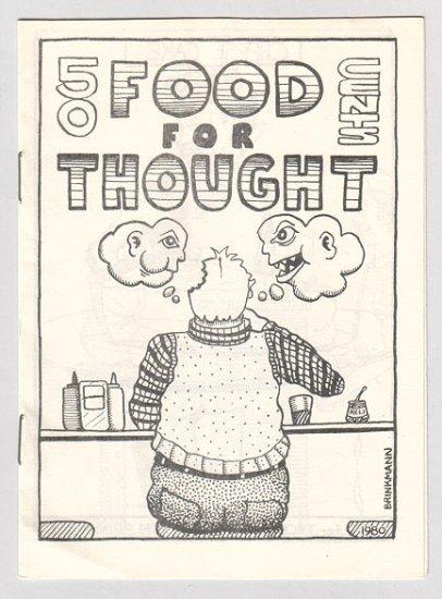 FOOD FOR THOUGHT underground comix TOM BRINKMANN 1980