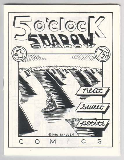 5 O'CLOCK SHADOW #3 mini-comic TERRY LABAN Matt Feazell MATT MADDEN 1990