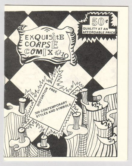 EXQUISITE CORPSE COMIX #10 mini-comic BILL SHUT Mystery Hearsay 1986