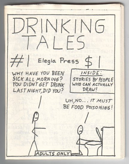 DRINKING TALES #1 mini-comic WAYNO Edward Bolman JOE HUTCHINSON 1988