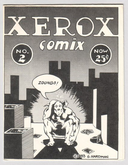 XEROX COMIX #2 mini-comic GARRY HARDMAN 1983