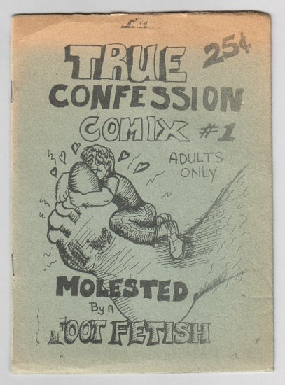 TRUE CONFESSION COMIX #1 mini-comic YASSI KNODEL foot fetish 1986