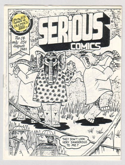 SERIOUS COMICS #14 mini-comic TIM CORRIGAN 1985